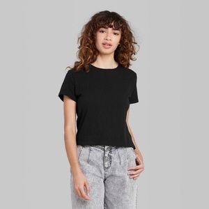 Women's Short Sleeve Shrunken Boxy T-shirt XL